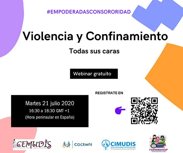 Violencia y confinamiento. segundo conversatorio CEMUDIS