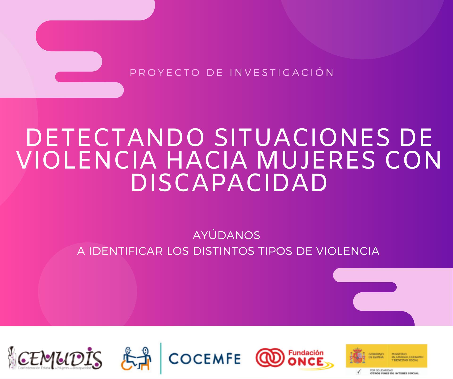 Encuesta violencia mujer discapacidad en ámbito sanitario