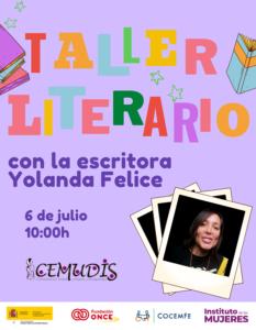 Taller Literario con la escritora Yolanda Felice @ Webex
